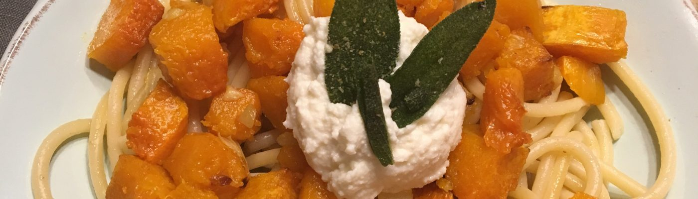 Butternut Squash and Browned Butter w/Sage Buccatini