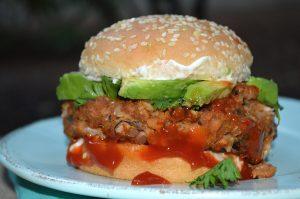 Knock Your Socks Off Veggie Burger