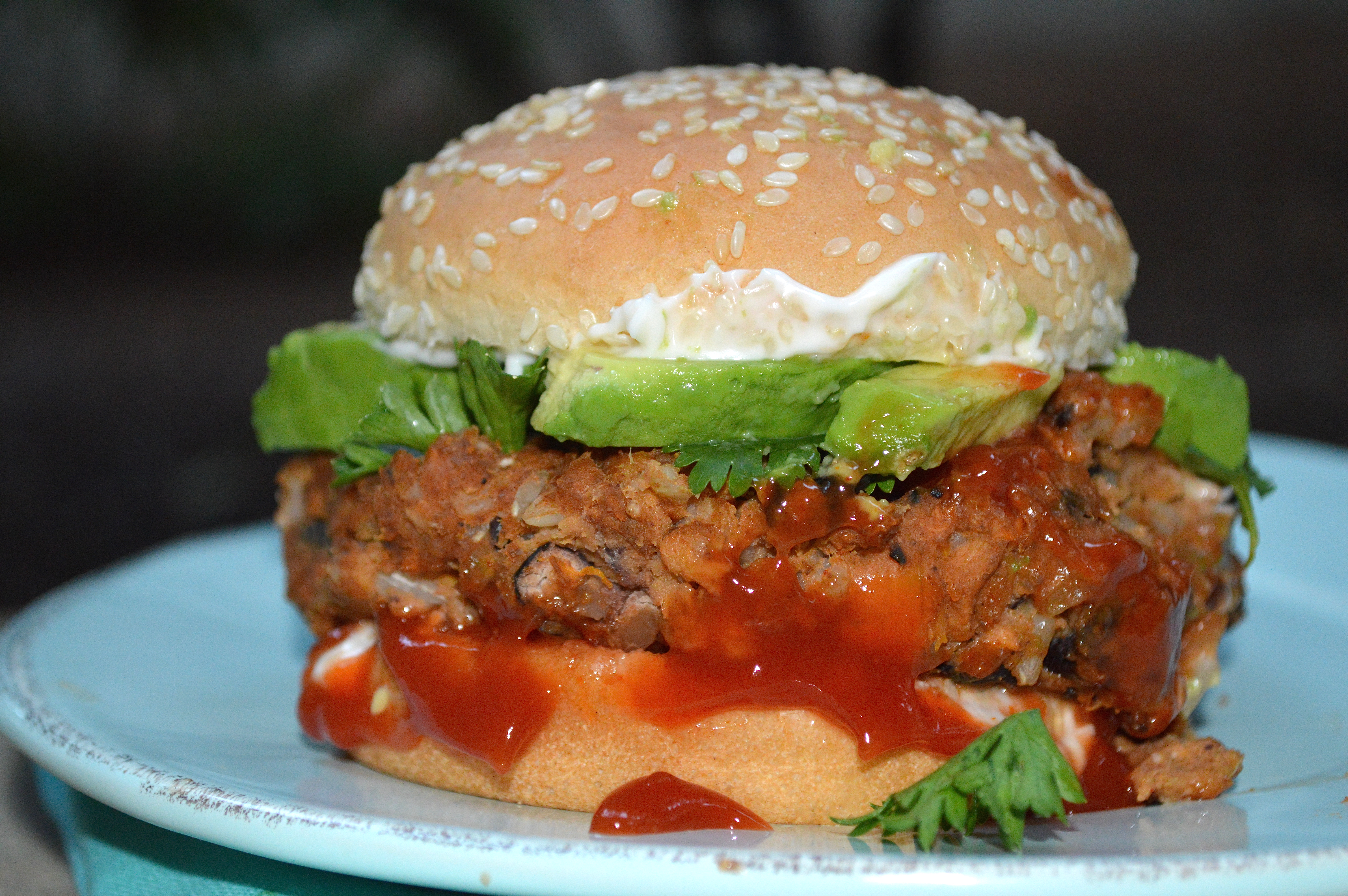 Complete Black Bean Burger