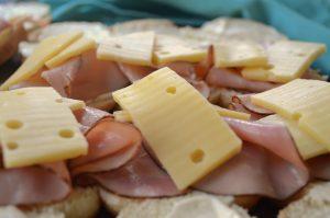 Ham and Swiss on Rolls for Ham & Swiss Cheese Sliders