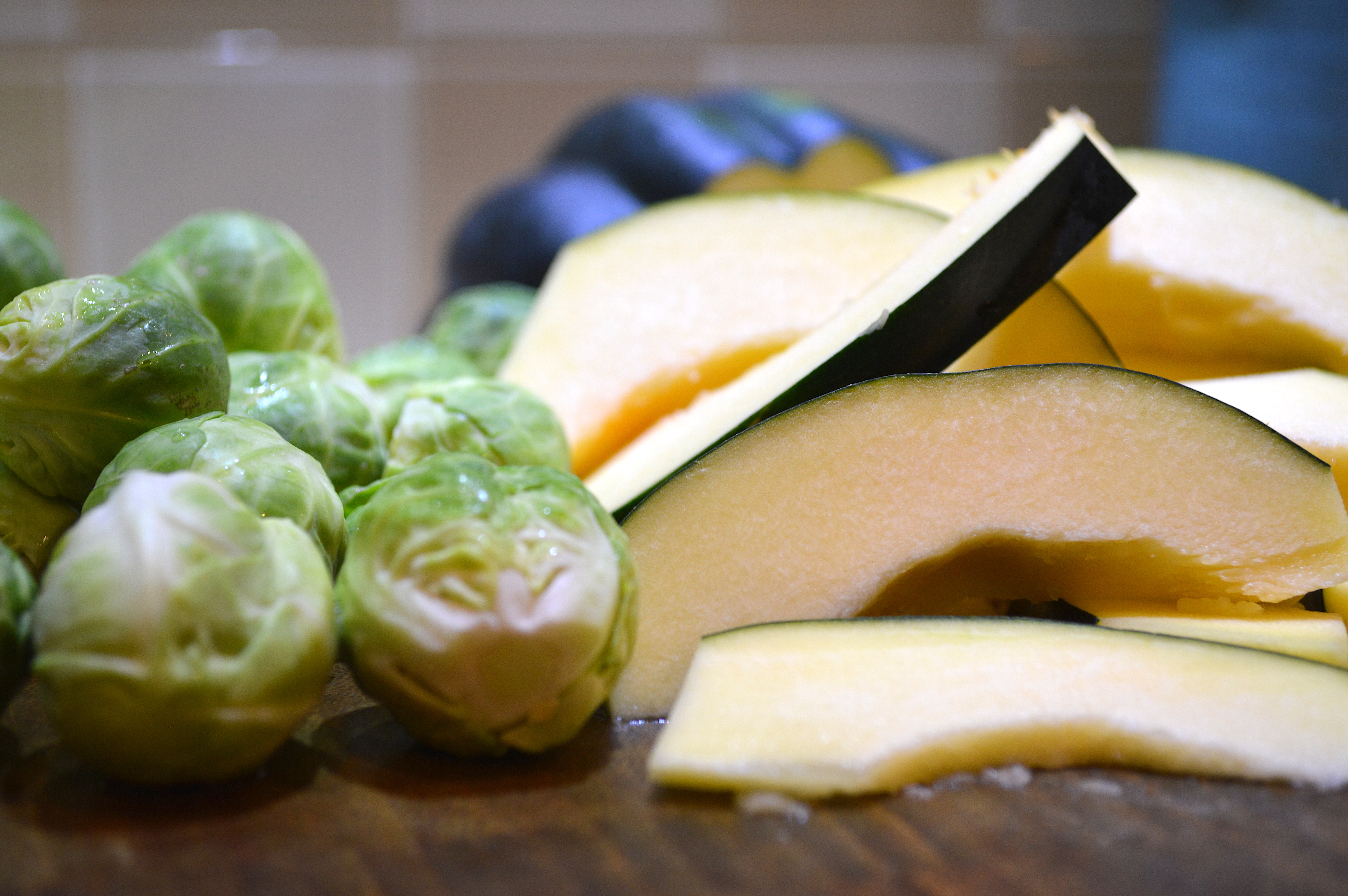 Brussels Sprouts & Sliced Acorn Squash