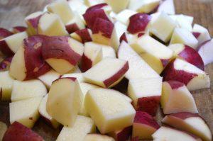 Chopped Red Potatoes for Hali Aloo found in post titled 'Achcha Khana (Good Food)'