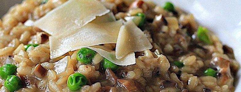 Italian Porcini Mushroom and Pea Risotto