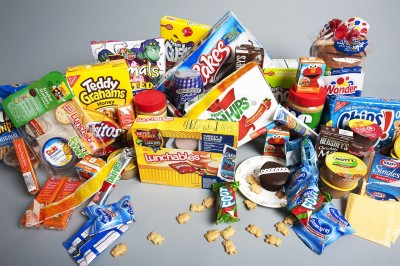 Photo of processed foods for post about Getting Smart with the Natural Life