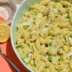 Easy Peasy Lemon Squeeze pasta salad with rotisserie chicken