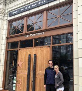 Michael and Me at Starbucks Reserve Roastery & Tasting Room, Pike Street Seattle