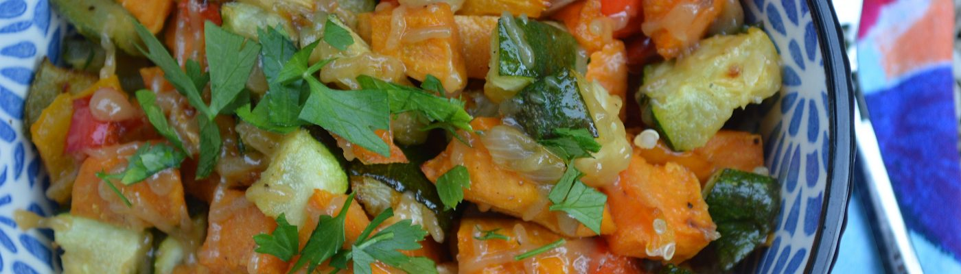 Roasted Veg Quinoa Bowl w/Hummus Dressing